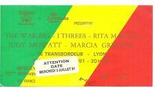 RARE / TICKET BILLET DE CONCERT - THE WAILERS : LIVE A LYON ( FRANCE ) 1991