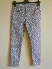 "Gap women's grey / white patterned legging jeans - W 25"" - stretch skinny denim"