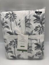 New Pottery Barn Palm Tree Full Sheet Set~Gray~