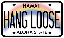 Car Window Bumper Sticker - Hawaiian Art Decal - Hang Loose License Plate Aloha