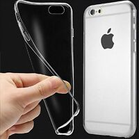 "UltraSlim TPU Case iPhone 7 4.7"" Schutz Hülle Silikon Cover Clear Transparent bs"