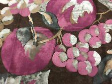 Jim Thompson Large Scale Fruit Floral Linen Print- Himma Gardens / Grape 0.50 yd