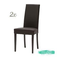 Sedia Moderna in Ecopelle color Marrone - 2 Pezzi SPEDIZIONE GRATIS