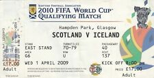 Ticket - Scotland v Iceland 01.04.09 @ Hampden FIFA World Cup Qualifier