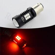 2x BAZ15D PREMIUM P21/4W RED QUALITY LIGHT REAR TAIL POSICION LED 3030 21SMD