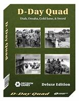 Decision Games D-Day Quad, Utah, Omaha, Gold, Juno, & Sword Deluxe Edition 1027