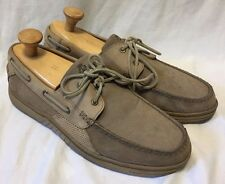 Tommy Bahama Boat Deck Clove With Sisal Loafers Men's 12M Tan Suede Casual Shoes
