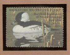MD19 - Maryland State Duck Stamp.  Single. MNH. OG.