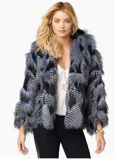 JUICY COUTURE Lapis Faux Fur and Sadie Feather Wrap Size:M/L $548