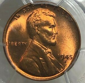 1945-S PCGS MS66 RD Lincoln Wheat Cent 1c ~ Cherry BU Better Date Penny