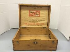 EARLY GENERAL STORE DISPLAY BOX FOR LASCO NAPTHOL SOAP PAPER ADD IN V G COND.