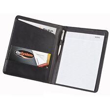 Black Bonded Leather A4 Conference Folder Business Document Case Portfolio