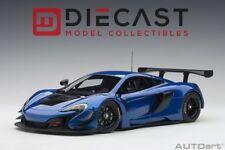 AUTOART 81641 McLAREN 650S GT3 (AZURE BLUE/BLACK ACCENTS) 1:18TH SCALE