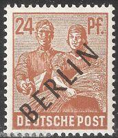 Berlin MiNr. 9 ** Schwarzaufdruck Mehrfach vom Bogen und BPP geprüft Schlegel A.