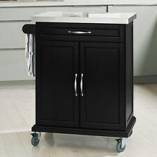SoBuy® Carrello di servizio, Scaffale da cucina, Mensola angolare,FKW13-SCH,IT