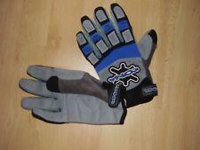 New Kona Long Finger Cycling Gloves Medium Grey / Black / Blue