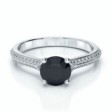 Black Engagement Fine Diamond Rings