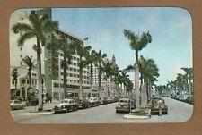Miami,Fl Florida,Biscayne Boulevard,showing Terrace & Alcazar Hotels, circa 1951
