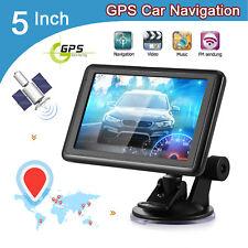 SAT GPS de navigation à l'écran tactile de voiture 5 pouces NAV 8GB ROM