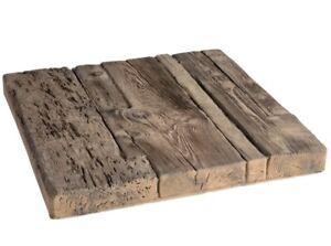 Terrassenplatten, Bodenplatten, Betonstein Holzstruktur