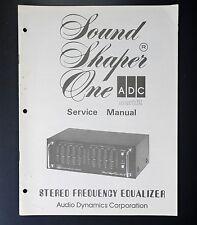 ADC SOUND SHAPER ONE Original Service-Manual/Service-Anleitung/Schaltplan!
