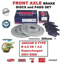 FRONT AXLE BRAKE PADS + DISCS for JAGUAR S TYPE R 4.2 V8 +Supercharged 2001-2006