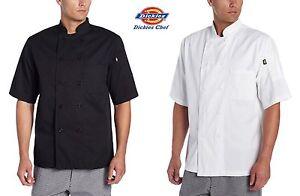 Dickies Chef Donatello Short Sleeve Coat 8 button Chef Jacket DC124