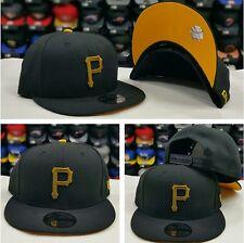 New Era MLB Team Color BLACK YELLOW Pittsburgh Pirates 9Fifty Snapback Hat