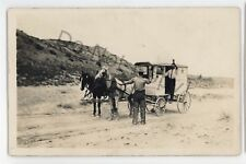 RPPC Stickup Police Gun Holdup Dairy Wagon PUEBLO CO Vintage Real Photo Postcard
