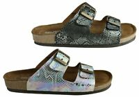 Brand New Florance 39502 Womens Leather Comfort Slide Sandals Made In Italy