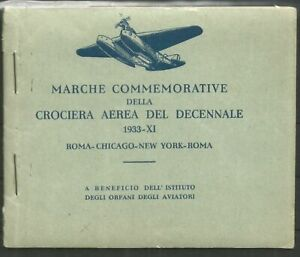 Libretto 1933 Erinnofili Crociera del Decennale - Balbo