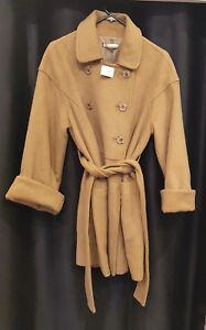 NEW GALLARDA GALANTE Camel Coat Wool Blend Winter Coat Size F