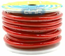 0 Gauge 100% Copper OFC Red Power Ground Cable Wire 50 Feet FT - SHIPS TODAY!