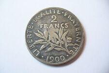 RARE  MONNAIE 2 FRANCS ARGENT  1900 JOLIE PATINE  - TTB/SUP   !!