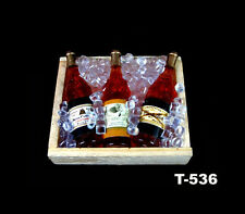 Dollhouse Miniature Iced Beer Wine Bottles Kitchen Drink Accessory Fridge Magnet