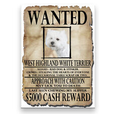 WEST HIGHLAND TERRIER Wanted Poster FRIDGE MAGNET
