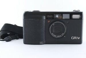 Ricoh GR1v Punkt & Shoot 35mm Film Kamera Schwarz Exzellent Aus Japan Fedex