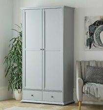 Heathland 2 Door 2 Drawer Wardrobe - Grey