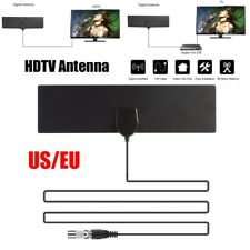 EU Plug Flat Antenna HD High Def TV Fox Scout HDTV DTV Sky Link Skylink Cable