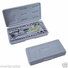 """40 Piece Tools 1/4"""" & 3/8"""" Drive Socket Set in Case"""