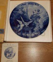 "KAISER W. GERMANY ""ANNIVERSARY 1972"" PORCELAIN PLATE IN BOX! 7 5/8""DIAM"