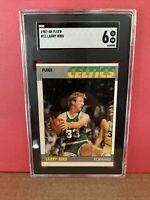 1987-88 Fleer #11 Larry Bird SGC 6 EX Boston Celtics Graded Basketball Card HOF