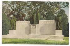 CONFEDERATE MONUMENT SHILOH NATIONAL PARK Linen Curt Teich POSTCARD Civil War