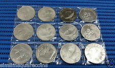 1972-1981 Singapore $10 and $50 1 oz Silver Coin (1980 $10 99.0% Nickel Coin)