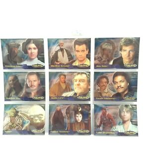 Star Wars Evolution 2001 Topps Foil Chase Collectable Trading Card Set 4A - 12A