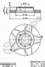 Brembo Max Bremsscheiben 240mm+Bremsbeläge/Satz- VA - HONDA Civic IV,V,VI,divers