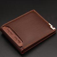 New Men's Leather Bifold ID Card Holder Purse Wallet Billfold Slim Clutch