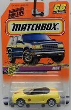 MG MGF YELLOW CONVERTIBLE 66 1998 MBX MB MATCHBOX