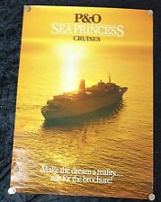 2000-03 P&O Cruises Poster, Sea Princess Promotional Poster