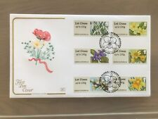 GB Cotswold FDC Symbolic Flora Post and Go